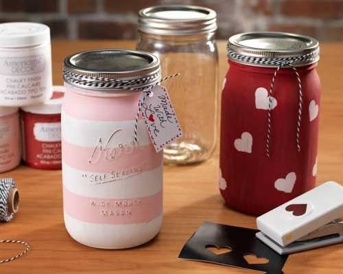 Chalkboard Paint, Mason Jar, Heart Punch