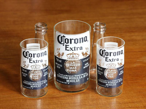 Make some recycled Corona glasses