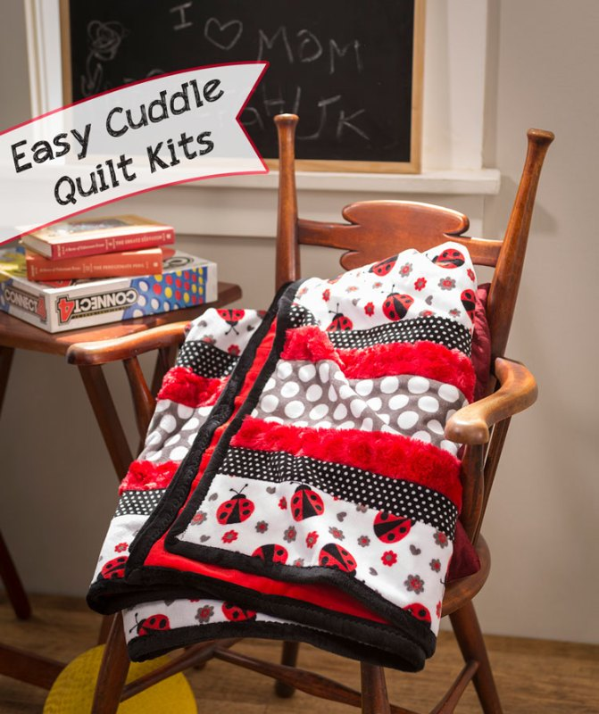 Make these easy cuddle kit quilts from Craft Warehouse