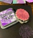 Distress Oxide Ink on Black Paper
