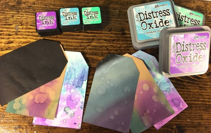 The difference between Distress Ink and Distress Oxide Inks