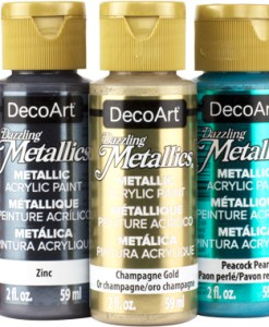Deco Art Dazzling Metallic Paints available at Craft Warehouse