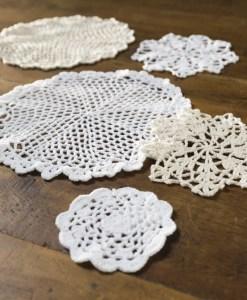 cotton crochet doiley