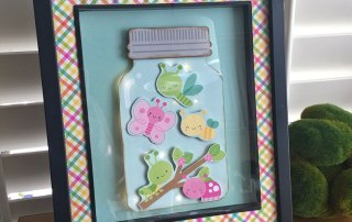 How to Make this Doodlebug Mason Jar Light Up Frame