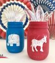 Election Party Mason Jars