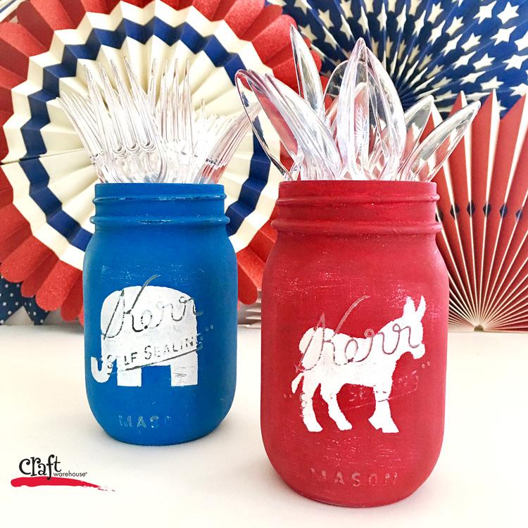 Election Party Mason Jars at Craft Warehouse