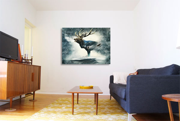 Call of the Wild Fabric as Wall Art from Craft Warehouse
