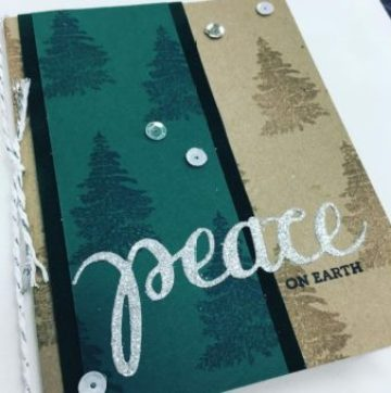 Watermark Stamped Card by Craft Warehouse