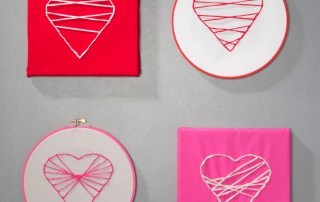 Valentines Heart Embroidery hoop art
