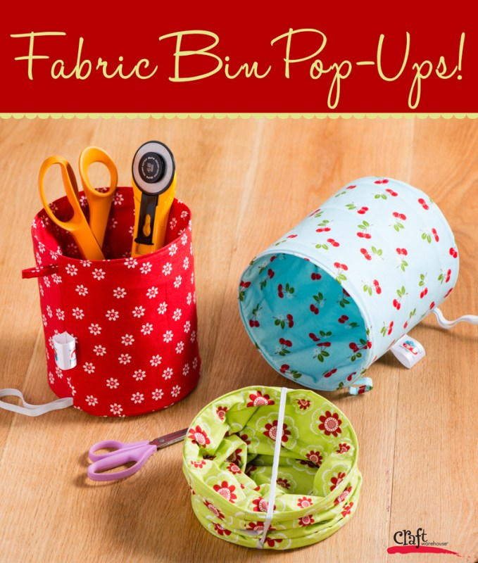 How to Make Fabric Bin Pop Ups from Fat Quarter Gypsy at Craft Warehouse