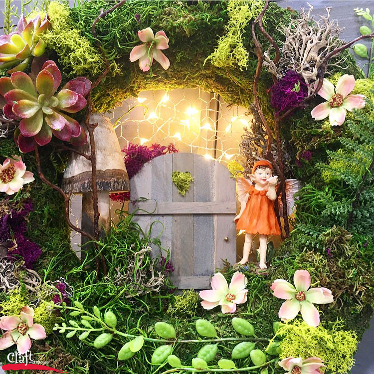 Make this Floating Fairy Garden at Craft Warehouse
