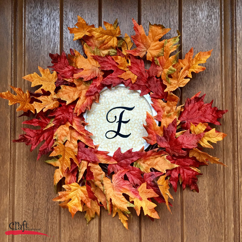 Make this Fall Wreath with a Frame from Craft Warehouse