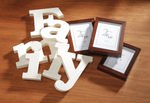 Unfinished Wood Family letters, frames, diy
