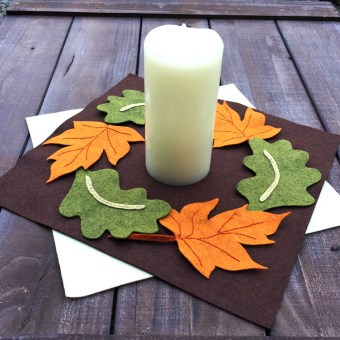 Fall Leaf Felt Placemat