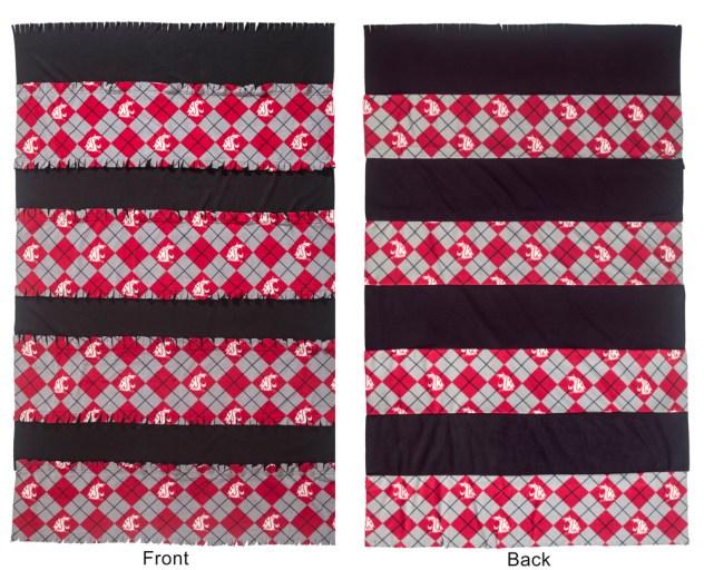 Fringe Fleece Blanket - front and back