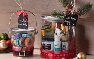 gift wrap plastic pail