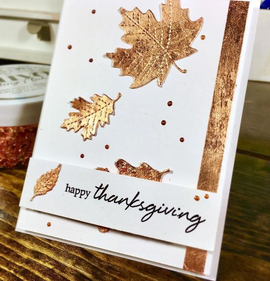 Nuvo Gilding Flakes use on a Gretting Card by Scrapbooknerd