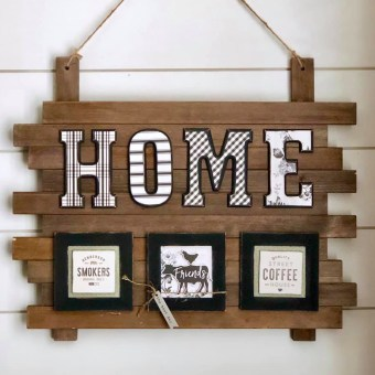 Home Sign Made with Gingham Farm