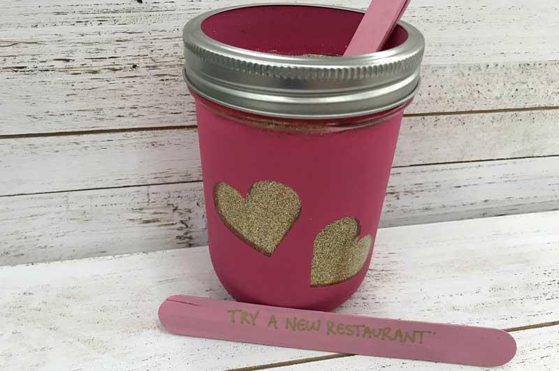 Valentine Glitter Jar/Date Night Jar @ Vancouver Location