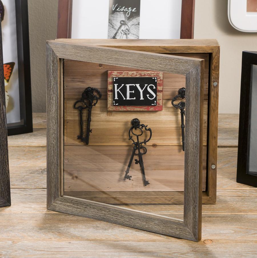 Key Storage Hinged Wood Frame | Craft Warehouse