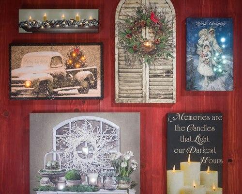 Wall Décor Light Up Canvas Christmas
