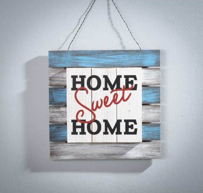 12x12 Unfinished Pallet Board made into a Home Sign at Craft Warehouse