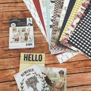 authentique homestead scrapbook paper