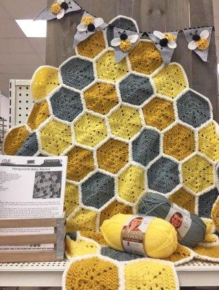 Free Pattern for Honeycomb Blanket Crochet Pattern
