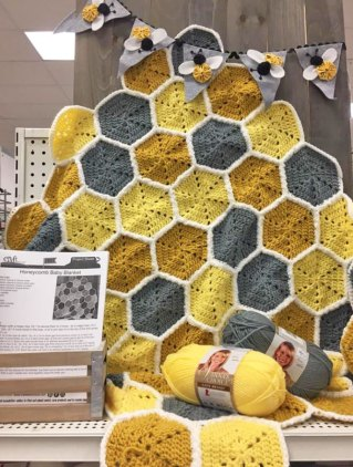 Free Pattern for Honeycomb Blanket Crochet Pattern