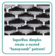Easy fit with honeycomb shape SuperDuo Duet Beads