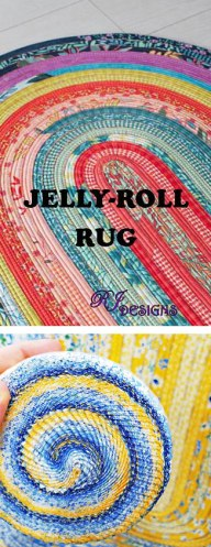 Jelly Roll Rug Pattern and Roll