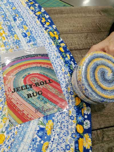 Jelly Roll Rug Demo