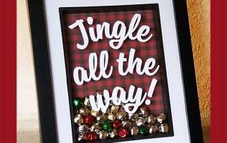Jingle all the Way Shadowbox Frame Tutorial
