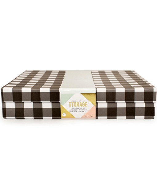 12x12 Paper Storage Box with Magnetic Closure available at Craft Warehouse