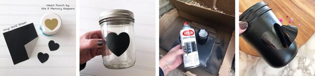 how to make a chalkboard mason jar valentines day votive