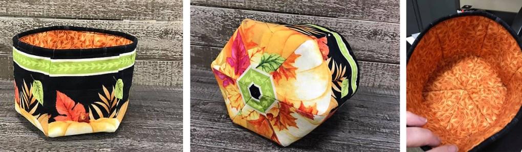How to make a four quarter fabric bowl - free pattern