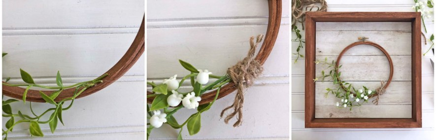 Create a Embroidery Hoop Wreath