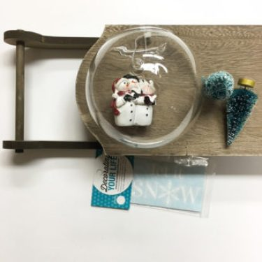 Supplies Needd for Snowman Globe Sled at Craft Warehouse