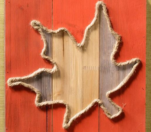 Maple Leaf in Jute Craft