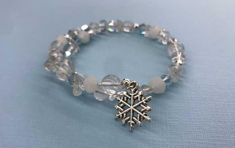 Winter Memory Wire Bracelet