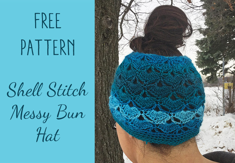 Craft Warehouse messy bun hat pattern