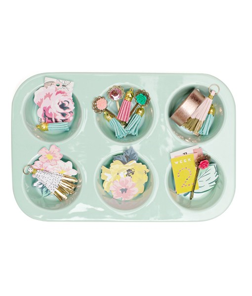 Muffin Tin Ceramic Ephemera Holders for Paper crafts or Beading available at Craft Warehouse