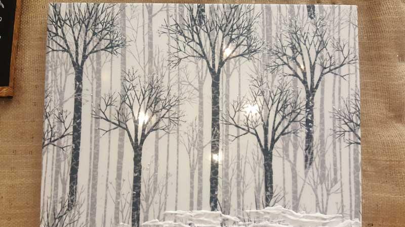 Lights in a Woodland Digital Print