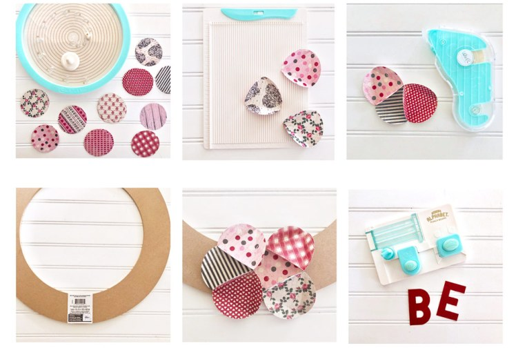 Steps to making a paper wreath