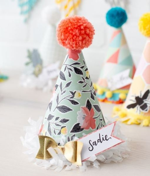 Pretty Party Hat made by the We R Memory Keepers Party Punch Board