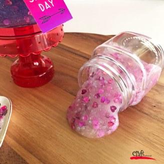 Pink Sequin Valentine Slime