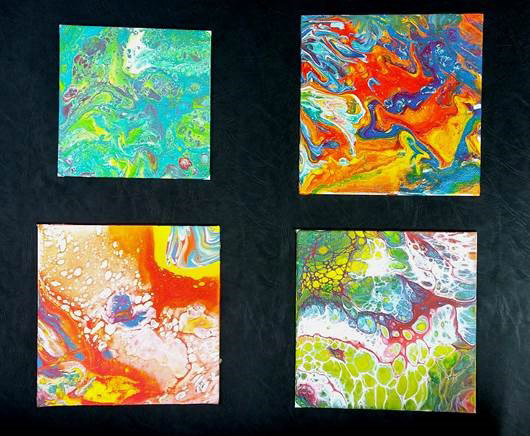 Pour Paintings from Craft Warehouse