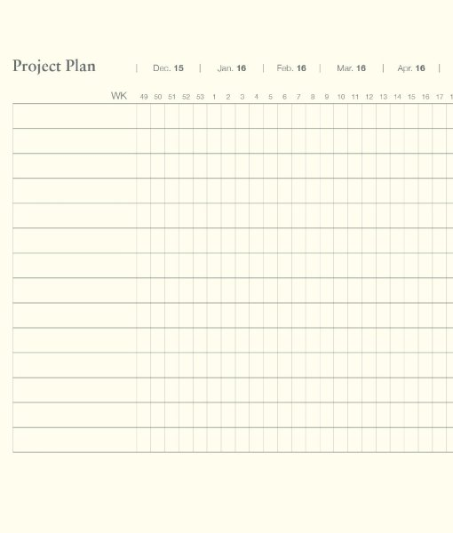 Project pages in a Leuchtturm Weekly Planners