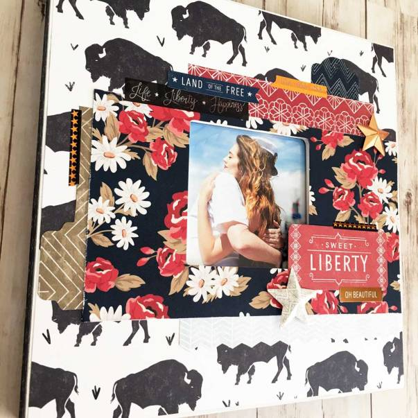 Sweet Freedom Scrapbook page layout from Craft Warehouse