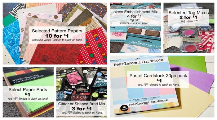Scrapbook Papers Sale at Craft Warehouse